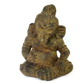 インドの神様 ガネーシャの置物 ガネーシャ 置物 ガネーシャ像 夢を叶える象 金運アップ 開運 瞑想 商売繁盛 現世利益 ヒンドゥー教の神様 象の神様 ゾウの神様 ガナパティ 歓喜天 聖天 石像 ぽっちゃり