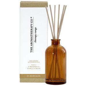 new Therapy Range セラピーレンジ Essential Oil Diffuser エッセンシャルオイル ディフューザー(リードディフューザー) Cinnamon & Vanilla Beans シナモン&バニラビーンズ Balance(バランス/調和)【リードディ