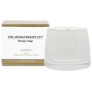 new Therapy Range セラピーレンジ Essential Oil Soy Wax Candleエッセンシャルオイル ソイワックスキャンドル  Cinnamon & Vanilla Beans シナモン&バニラビーンズ Balance(バランス/調和)【蓋付き】【ルームフレ