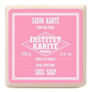 INSTITUT KARITE インスティテュート カリテ Shea Wrapped Soap シアソープ 100g Rose ローズ【シアバター】【フランス】【セレクトショップ】【潤い】【石鹸】【ボディソープ】【薔薇】【バラ】