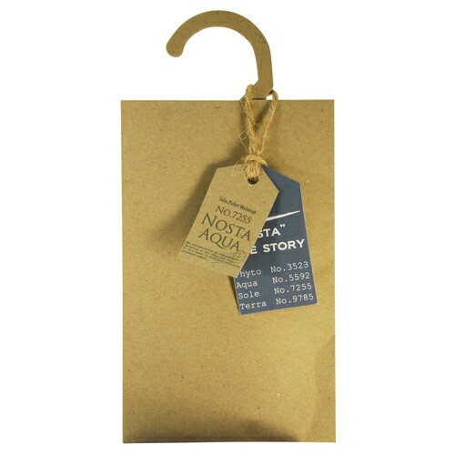 <new>Nosta ノスタ Fragranced Hanger Sachet ハンガーサシェ Aqua アクア / 生命の起源【ナチュラル】【ルームフレグランス】【インテリア】【セレクトショップ】【プレゼント】【お返し】【芳香剤】【楽ギフ_包装】【RCP】【10P03Dec16】