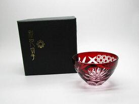 【彩花切子】東洋佐々木ガラス 杯 赤 HG240-23R【新品】