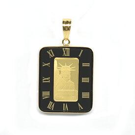 K24純金リバティコイン インゴット ガラス付きペンダントトップ 18385【新品】