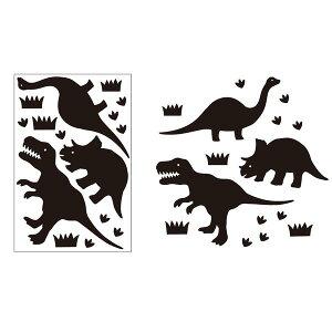 【ウォールステッカー】【黒板】カワイイステッカーでメッセージ♪ ブラックボードステッカー for チョーク 恐竜【グッズ プレゼント ギフト 贈り物 かわいい おしゃれ インテリア 壁紙 シ