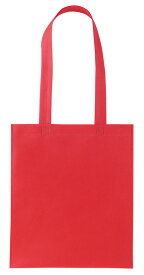 不織布A4バッグ レッド 10枚セット(1枚64円)【 鞄 肩掛けかばんシンプル カラフル 】/