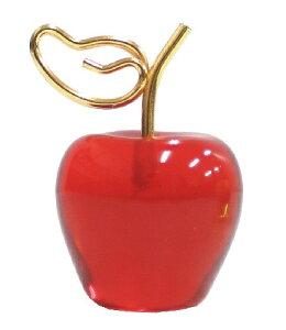 【カードスタンド】【フルーツ】丸いフォルムがかわいい♪ フルーツカードスタンド リンゴ レッド【おもちゃ グッズ 雑貨 プレゼント ギフト 贈り物 誕生日 父の日 母の日 文房具 メッセー