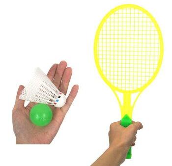ハッピーバトミントンセット12個セット(1個あたり\88)【アウトドアグッズスポーツピクニック運動楽しいスポーツおもちゃバドミントン】