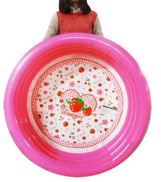 【お買い得】キッズプール約100cm(いちご柄)【男の子女の子子供用水遊び】【ビニールプール夏サマーアイテム】