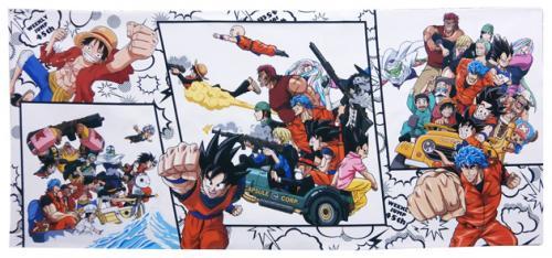 週刊少年ジャンプ45周年記念 ドラゴンボール×ワンピース×トリコ マイクロファイバースポーツタオル ■■