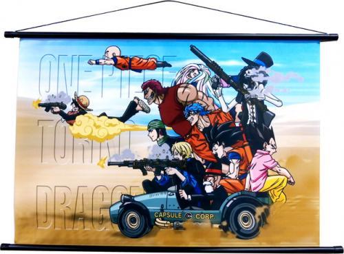 週刊少年ジャンプ45周年記念 ドラゴンボール×ワンピース×トリコ タペストリー ■■