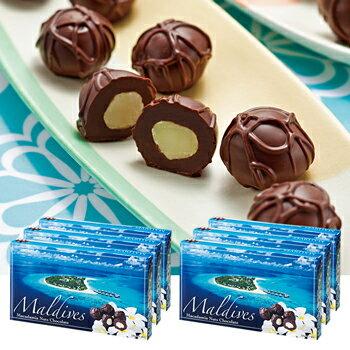[送料無料] モルディブお土産   モルディブ マカデミアナッツチョコレート 6箱セット【194101】
