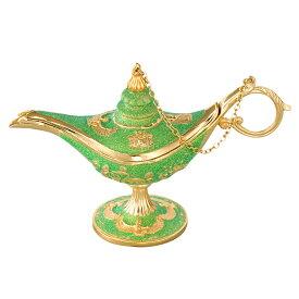 [5400円以上で送料無料] エジプトお土産 | 魔法のランプ ゴールド×グリーン【191343】