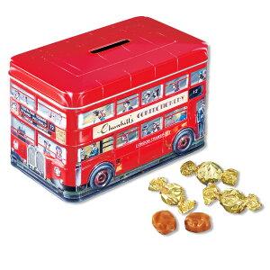 [5400円以上で送料無料] イギリスお土産 ? チャーチル(Churchill's) ロンドンバス缶 クリームトフィ【191153】