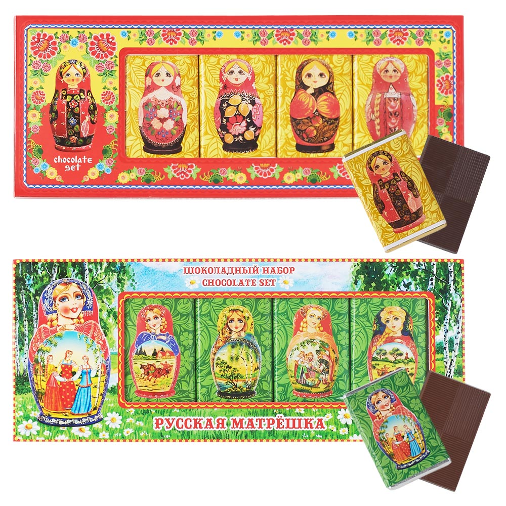 [5000円以上で送料無料] ロシアお土産 | マトリョーシカ チョコレート 2種セット【181275】