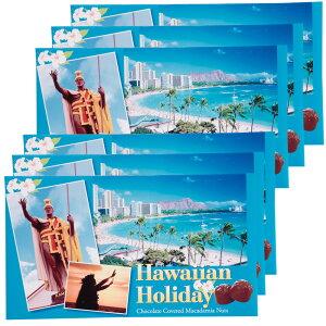 [送料無料] ハワイお土産 | ハワイアンホリデー マカデミアナッツ チョコレート 6箱セット【203005】