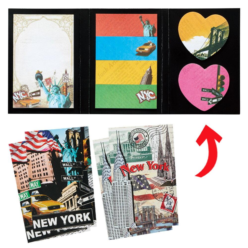 [5000円以上で送料無料] アメリカお土産 | ニューヨーク 三面ふせん 2種×2冊 (合計4冊)セット【182046】