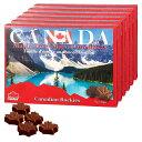 [送料無料] カナダお土産   カナディアンロッキー メイプルリーフ チョコレート 6箱セット【192073】