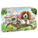 [5400円以上で送料無料] チャーチル Churchill's ガーデンパーティー 犬猫缶 ミニチョコチップクッキー【105894】