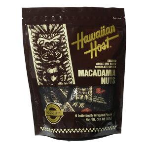 ハワイ ハワイアンホースト マカデミアナッツチョコレート1ピースTIKI スタンドアップバッグ 9粒入り【880442】[5400円以上で送料無料]