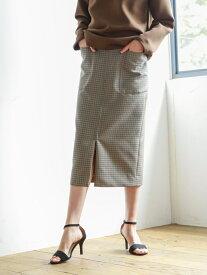 【SALE/30%OFF】高密度ウールポリエステルチェック ジップタイトスカート S.ESSENTIALS エス エッセンシャルズ スカート ロングスカート グリーン【RBA_E】【送料無料】[Rakuten Fashion]