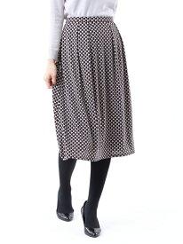 【SALE/26%OFF】*Marisol掲載*【XSサイズ~】【UV対策】【吸水速乾】【接触冷感】【ウォッシャブル】エアファインスムースプリントスカート TRANS WORK トランスワーク スカート ロングスカート ベージュ グレー【RBA_E】【送料無料】[Rakuten Fashion]