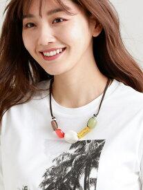 【SALE/50%OFF】ビッグパーツネックレス TRANS WORK トランスワーク アクセサリー ネックレス オレンジ ブルー【RBA_E】【送料無料】[Rakuten Fashion]