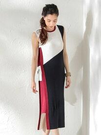 [Rakuten Fashion]【SALE/62%OFF】【LOVELESS】WOMENカラーブロックニットドレス LOVELESS ラブレス ワンピース シャツワンピース ネイビー カーキ【RBA_E】【送料無料】