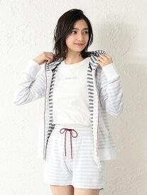 [Rakuten Fashion]【SALE/68%OFF】【LOVELESS】WOMENリゾートパイルパーカー LOVELESS ラブレス カットソー パーカー ホワイト グレー ネイビー【RBA_E】【送料無料】