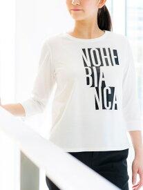 【SALE/26%OFF】【ウォッシャブル】フォイルロゴプリントTシャツ EVEX by KRIZIA エヴェックス バイ クリツィア カットソー Tシャツ ホワイト ネイビー グリーン オレンジ【RBA_E】【送料無料】[Rakuten Fashion]