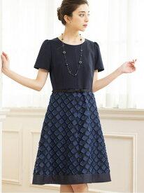 【SALE/40%OFF】カットジャカードコンビドレス TO BE CHIC トゥー ビー シック ワンピース ワンピースその他 ブルー ピンク【RBA_E】【送料無料】[Rakuten Fashion]