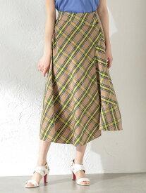 [Rakuten Fashion]【SALE/51%OFF】【LOVELESS】WOMENアシンメトリーチェックスカート LOVELESS ラブレス スカート スカートその他 ベージュ ネイビー【RBA_E】【送料無料】