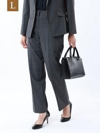 【SALE/37%OFF】【L】【セットアップ対応】【美SlimPants】トロストライプストレッチパンツ TRANS WORK(大きいサイズ) サンヨー エルサイズ パンツ/ジーンズ パンツその他 グレー ネイビー【RBA_E】【送料無料】[Rakuten Fashion]