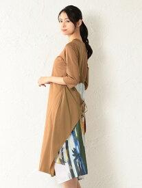 [Rakuten Fashion]【SALE/66%OFF】【FreiEA】WOMENバックスカーフドレス LOVELESS ラブレス ワンピース ワンピースその他 ベージュ ネイビー【RBA_E】【送料無料】