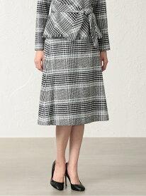 [Rakuten Fashion]【SALE/46%OFF】マドラスツイードスカート TRANS WORK トランスワーク スカート ロングスカート ブラック【RBA_E】【送料無料】
