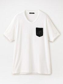 【SALE/52%OFF】カモフラパイル VネックポケT LOVELESS ラブレス カットソー Tシャツ ホワイト ネイビー【RBA_E】【送料無料】[Rakuten Fashion]