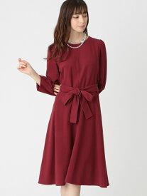 【SALE/34%OFF】スウェードタッチジャージドレス TO BE CHIC トゥー ビー シック ワンピース ワンピースその他 レッド ネイビー【RBA_E】【送料無料】[Rakuten Fashion]
