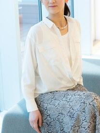 【SALE/42%OFF】*eclat掲載*スーパーヴィヨンシャツブラウス EVEX by KRIZIA エヴェックス バイ クリツィア シャツ/ブラウス 長袖シャツ ホワイト ピンク ブラウン【RBA_E】【送料無料】[Rakuten Fashion]