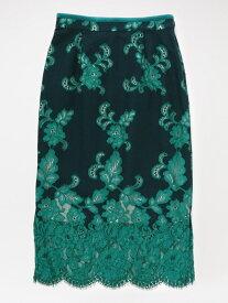 [Rakuten Fashion]【SALE/57%OFF】バイカラーレーススカート LOVELESS ラブレス スカート ロングスカート ネイビー ブルー【RBA_E】【送料無料】