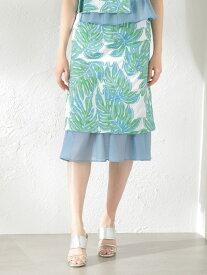 [Rakuten Fashion]【SALE/66%OFF】【LOVELESS】WOMENCreativelineリーフジャカードスカート LOVELESS ラブレス スカート ロングスカート ホワイト ネイビー【RBA_E】【送料無料】