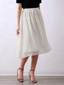 【SALE/43%OFF】モノトーンドットスカート AMACA アマカ スカート ロングスカート ホワイト ブラック【RBA_E】【送料無料】[Rakuten Fashion]