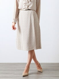 【SALE/40%OFF】【XSサイズ~】ブロックジオメトリックプリントスカート AMACA アマカ スカート ロングスカート ベージュ ブラック【RBA_E】【送料無料】[Rakuten Fashion]