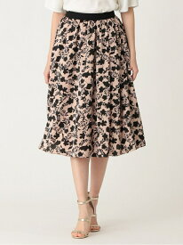 【SALE/41%OFF】シルエットプリントスカート TO BE CHIC トゥー ビー シック スカート ロングスカート ベージュ ブラック【RBA_E】【送料無料】[Rakuten Fashion]