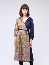 [Rakuten Fashion]【SALE/39%OFF】フラワーブロッキングドレス LOVELESS ラブレス ワンピース シャツワンピース ベージュ【RBA_E】【送料無料】