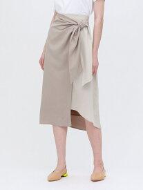 【SALE/40%OFF】バイカラー ラップスカート LOVELESS ラブレス スカート ロングスカート ベージュ オレンジ【RBA_E】【送料無料】[Rakuten Fashion]