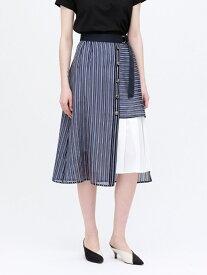 【SALE/45%OFF】シアー ストライプ スカート LOVELESS ラブレス スカート ロングスカート ネイビー【RBA_E】【送料無料】[Rakuten Fashion]