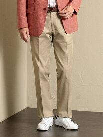 【SALE/40%OFF】【オーガニックコットン使用】エシカルコットンスラックス. THE SCOTCH HOUSE ザ・スコッチハウス パンツ/ジーンズ スラックス/ドレスパンツ ベージュ ネイビー【RBA_E】【送料無料】[Rakuten Fashion]