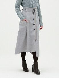 [Rakuten Fashion]【SALE/56%OFF】フロントファスナースカート LOVELESS ラブレス スカート スカートその他 グレー ブラウン【RBA_E】【送料無料】