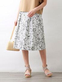 【SALE/42%OFF】【Precious Collection】AUGUST ROSE EMBROIDERYスカート AMACA アマカ スカート ロングスカート ブラック ベージュ【RBA_E】【送料無料】[Rakuten Fashion]