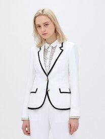 【SALE/49%OFF】ホワイト パイピングジャケット LOVELESS ラブレス コート/ジャケット テーラードジャケット ホワイト【RBA_E】【送料無料】[Rakuten Fashion]