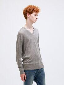 [Rakuten Fashion]【SALE/60%OFF】ラメラインVネックニット LOVELESS ラブレス ニット 長袖ニット グレー ブラック ブルー【RBA_E】【送料無料】